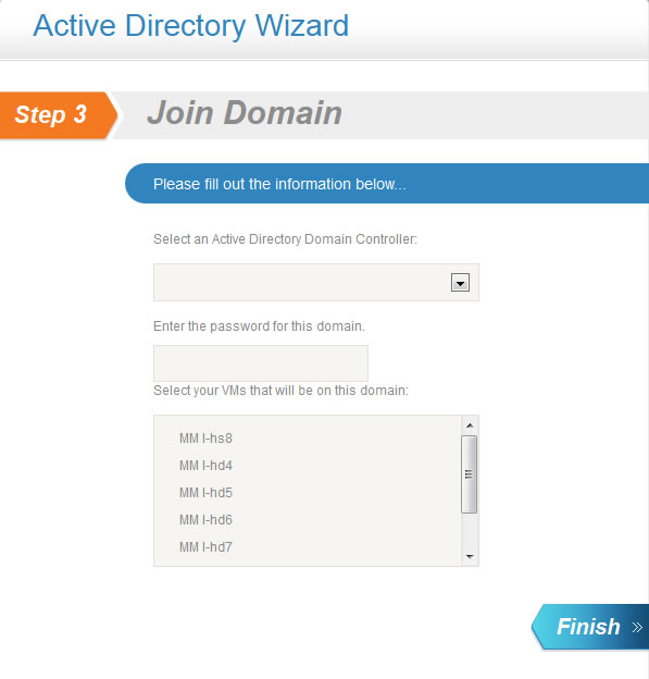 Active Directory Wizard: Join Domain