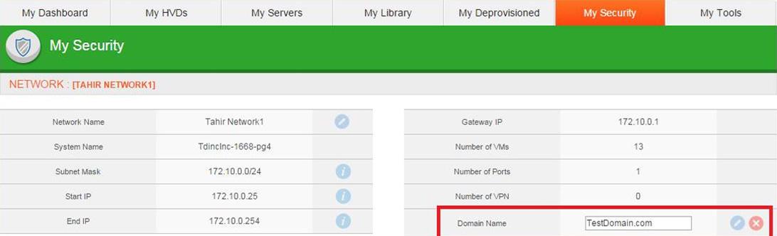 Edit Domain Name – dinCloud