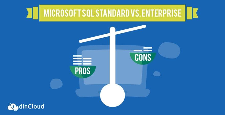 Comparing Microsoft SQL Standard vs  Enterprise | dinCloud