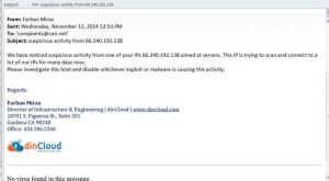 """SecureAuth security staff notified the """"offending"""" service provider of the machine """"attacking"""" dinCloud resources."""