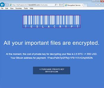 TeslaCrypt File Decryption