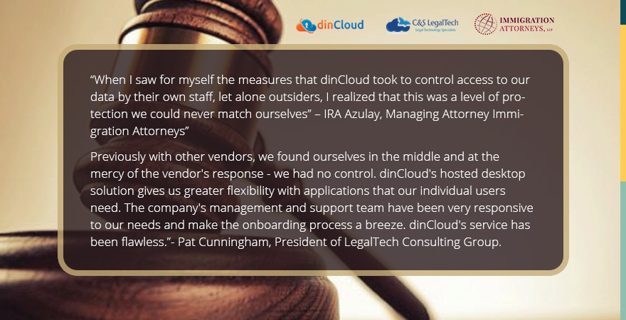 Testimonials from Legal Practices – dinCloud