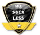 We suck less